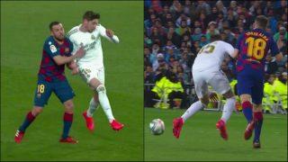 Mateu perdonó la expulsión a Jordi Alba.