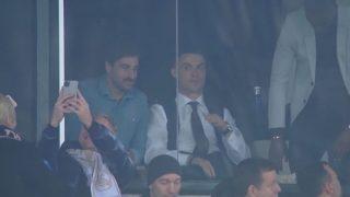 Cristiano Ronaldo estuvo en el Santiago Bernabéu viendo el Clásico.
