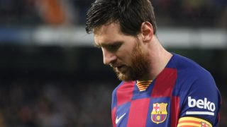 Messi, durante el Clásico ante el Real Madrid. (Enrique Falcón)