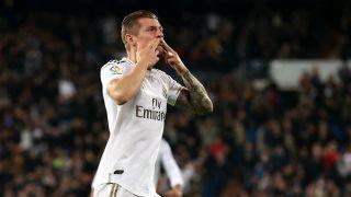 kroos, durante el partido del Real Madrid. (Getty)