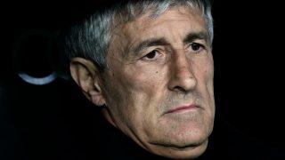 Setién, durante un partido. (AFP)