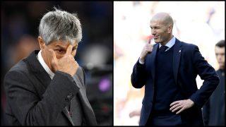 Zidane recupera crédito a costa de Setién. (Getty)