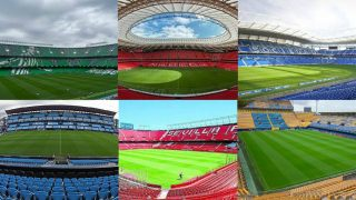 Villamarín, San Mamés, Anoeta, Balaídos, Pizjuán y La Cerámica son los estadios en los que se jugará la Liga (Getty).
