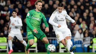 James Rodríguez con el Real Madrid frente a la Real Sociedad. (AFP)
