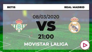 Betis-Real Madrid: Horario y dónde ver online el partido hoy de Liga Santander por TV en directo.