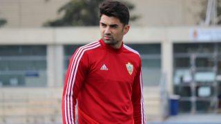 Enzo Zidane, durante un entrenamiento de la UD Almería. (@U_D_Almeria)