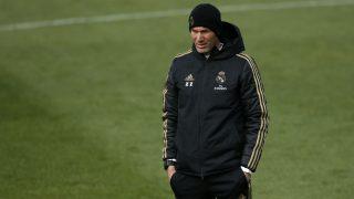 Zidane, durante un entrenamiento. (EFE)