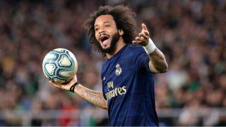 Marcelo, en el partido ante el Betis. (AFP)
