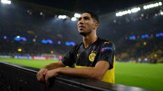 Achraf, en un partido del Borussia Dortmund. (Getty)