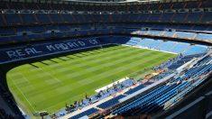El estadio Santiago Bernabéu sin público. (Getty)