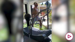 Sergio Ramos se machaca teletrabajando desde su casa