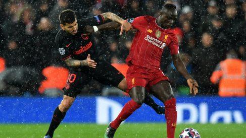 Sadio Mané con el Liverpool frente al Atlético de Madrid. (AFP)