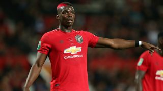 Paul Pogba, durante un partido con el Manchester United esta temporada. (Getty)
