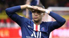 Kylian Mbappé celebra un gol con el PSG. (@KMbappe)