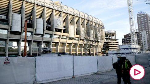 El Santiago Bernabéu en obras. (Getty)