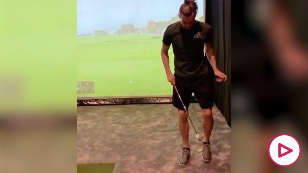 Gareth Bale haciendo el #TMBounceChallenge