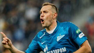 Dzyuba, durante un partido con el Zenit. (Getty)
