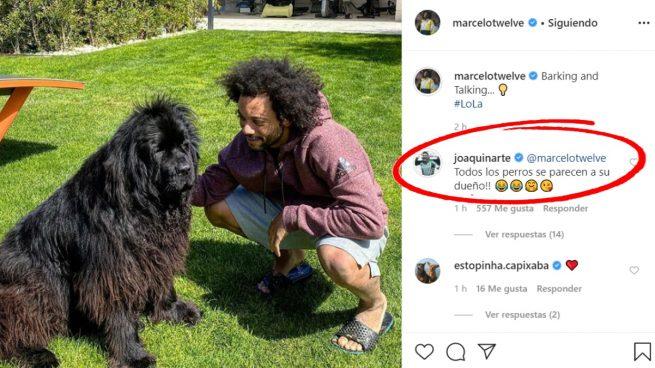 La foto de Marcelo y el mensaje de Joaquín.
