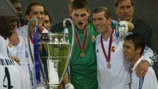 Los jugadores del Real Madrid celebran la Novena Champions League. (AFP)