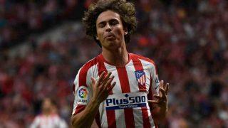 Rodrigo Riquelme con el Atlético de Madrid. (AFP)
