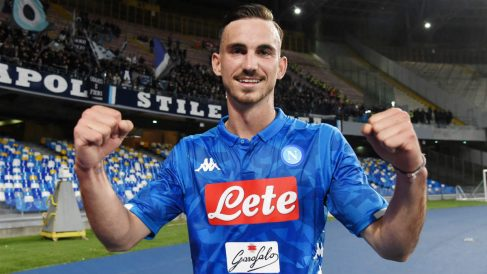 Fabián celebra un gol con el Nápoles. (Getty)