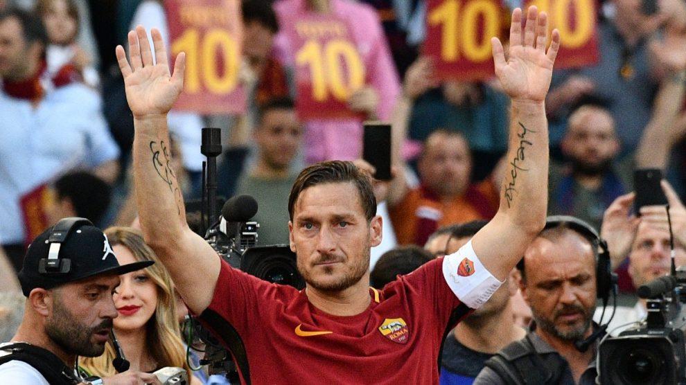 Francesco Totti el día de su retirada, en 2017 (AFP).