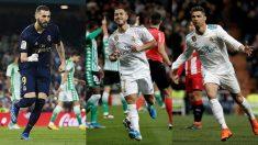 Benzema, Hazard y Cristiano formarían una delantera letal en el Real Madrid (Getty).