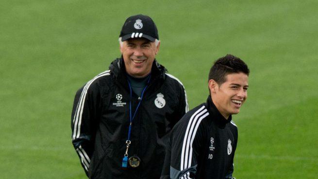 Ancelotti, de nuevo al rescate de James Rodríguez