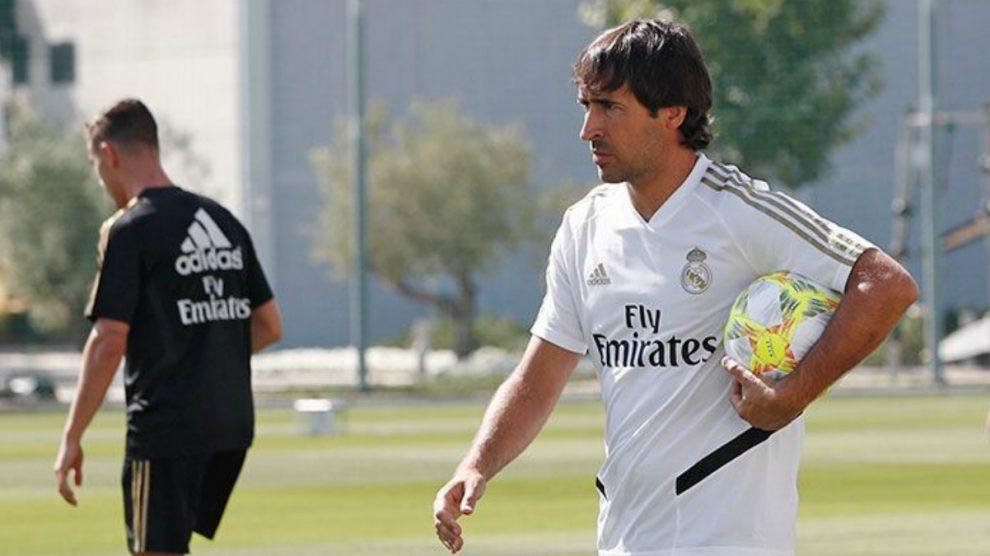 Raúl durante un entrenamiento. (Realmadrid.com)
