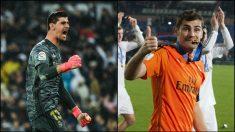 Thibaut Courtois e Iker Casillas. (Fotos: Getty)