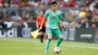 Miguel Gutiérrez, durante su debut con el Real Madrid. (Realmadrid.com)