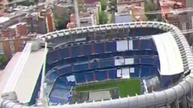 Las obras del Bernabéu aceleran: retirada de una parte del techo