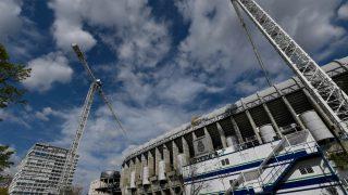 Una imagen del Santiago Bernabéu en obras en los últimos días. (AFP)