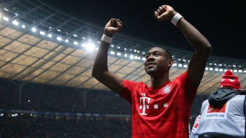 Alaba, celebrando una victoria. (AFP)