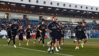La plantilla del Real Madrid ejercitándose en el Di Stéfano (Realmadrid.com)
