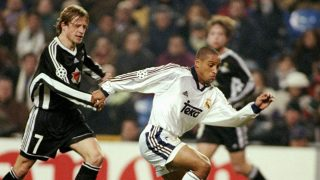 Roberto Carlos, en sus primeros años en el Real Madrid. (Getty)