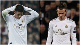 James Rodríguez y Gareth Bale, dos de los jugadores a los que quiere dar salida el Real Madrid.