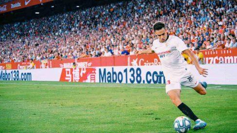 Sergio Reguilón con el Sevilla. (@Sergio_regui)