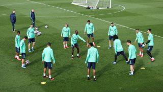 Los jugadores del Real Madrid, durante un entrenamiento (Getty).