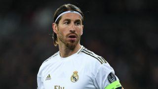 Sergio Ramos, durante un partido con el Real Madrid (Getty)