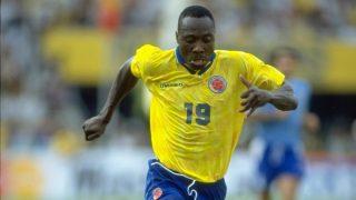 Freddy Rincón, durante un partido con Colombia. (Getty)