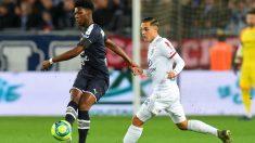 Aurélien Tchouaméni durante un partido con el Girondins de Burdeos. (AFP)