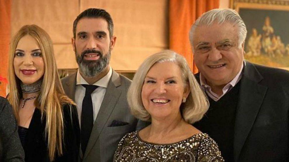 Fernando, Lorenzo Sanz y sus respectivas esposas.