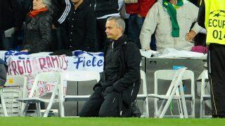 Mourinho, durante el Real Madrid – Bayern de las semifinales de la Champions. (AFP)
