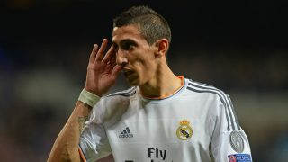 Di María, durante un partido de Champions con el Real Madrid.
