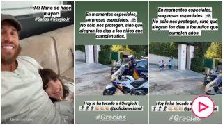 La sorpresa de la Policía al hijo de Sergio Ramos.