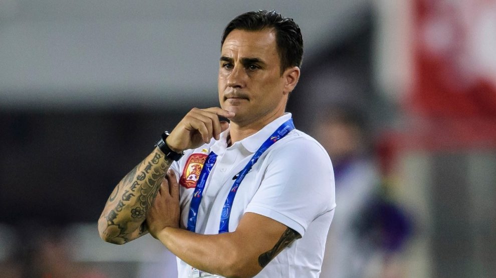 Fabio Cannavaro, durante un partido del Guangzhou Evergrande (AFP).