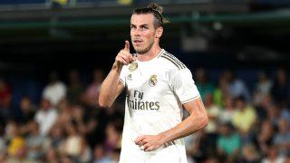 Gareth Bale celebra un gol con el Real Madrid. (Getty)