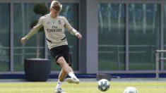 Toni Kroos durante un entrenamiento con el Real Madrid. (realmadrid.com)
