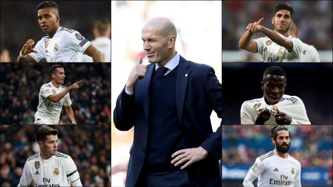 Zidane se frota las manos con los cinco cambios